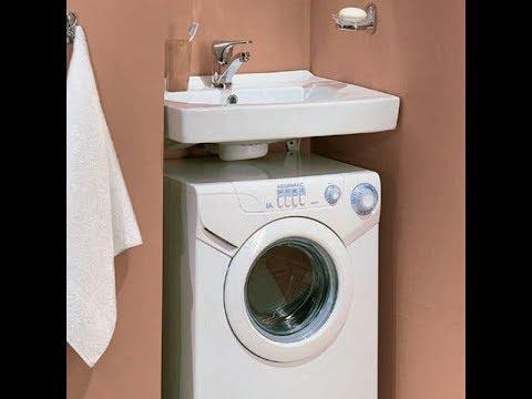 Как установить раковину над стиральной машиной.