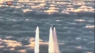 مقاتلات ألمانية تعترض طائرة ركاب هندية .. فيديو