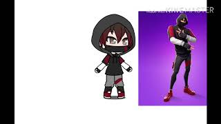 I tried to make the fortnite Ikonik skin in gacha life