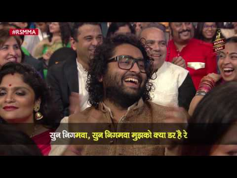 Sonu Nigam's spoof song has Arijit Singh in splits at Royal Stag Mirchi Music Awards | #RSMMA