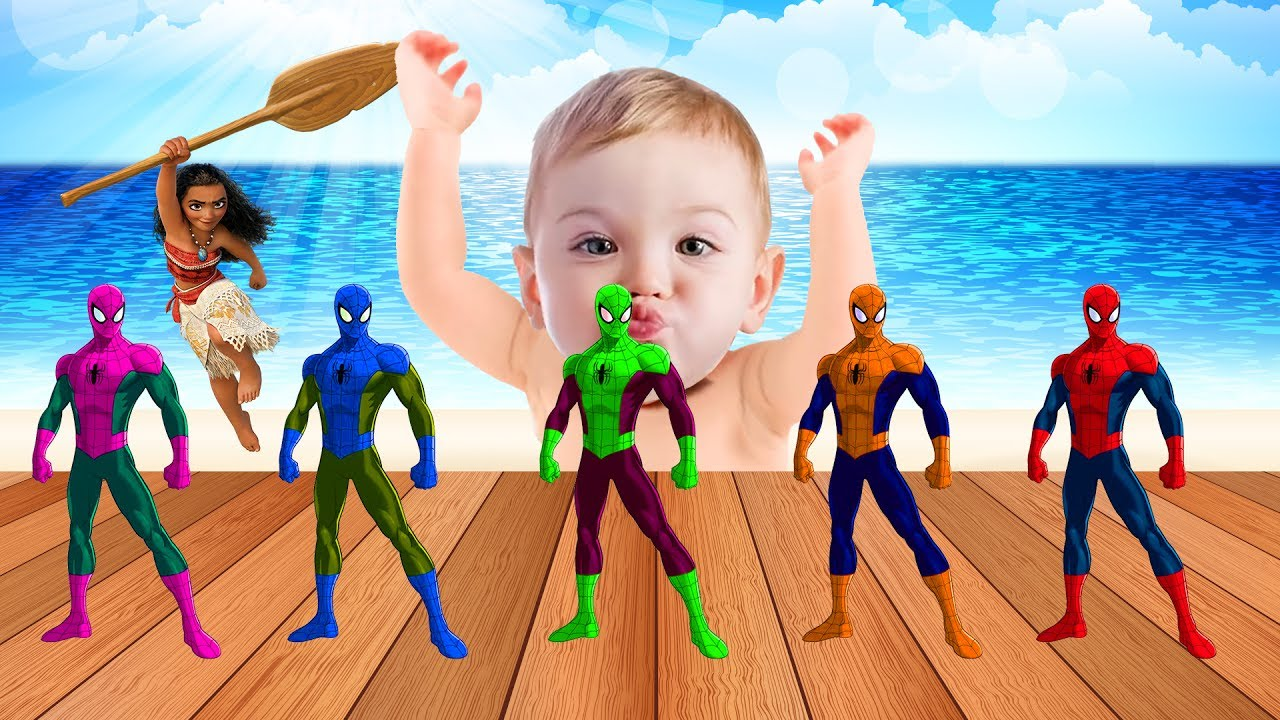 Bad Baby Crying & Learn colors Spiderman Toys, Songs Finger Family and Nursery Rhymes