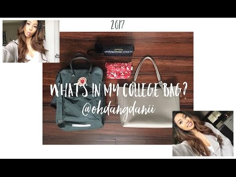 WHAT'S IN MY COLLEGE BAG?! Purse, Pencil Case, And Essentials! // @ohdangdanii