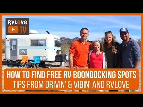TIPS FOR FINDING FREE SCENIC RV BOONDOCKING with Drivin; and Vibin'