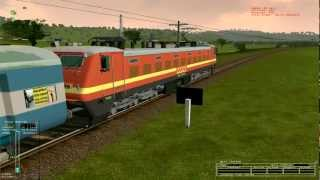 MSTS Indian Railway: Kerala Express with ED WAP 4 22222