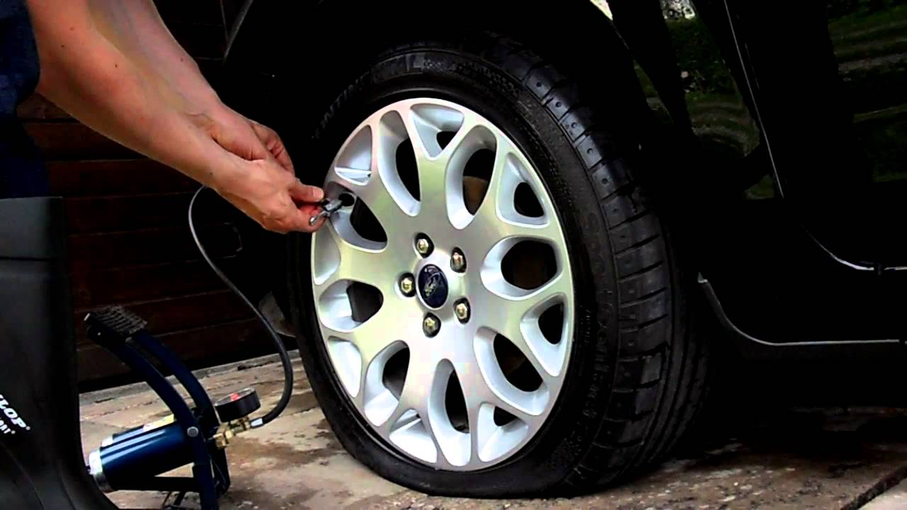 how to inflate a car tyre