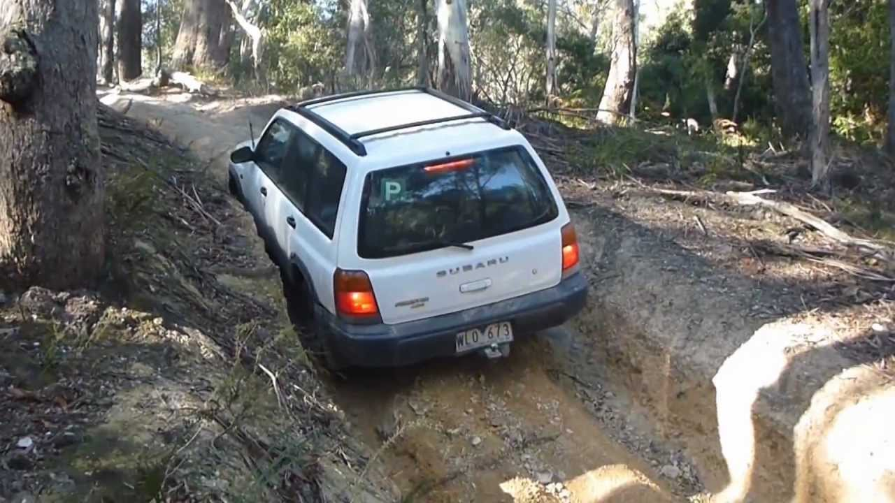Subaru Forester Off Road - Steep Rutted Hill Climb ...