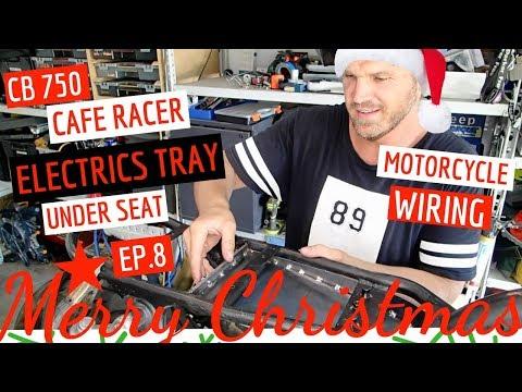 Honda CB750 ★ Cafe Racer Electrics Tray, Under Seat Motorcycle Wiring Ep 8