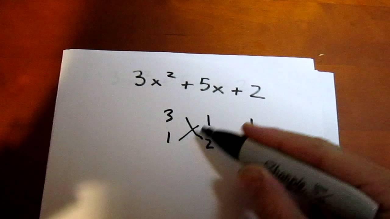 Difficult Trinomial Factoring Using The Criss Cross Method Example 1 Math Foldables Method Algebra