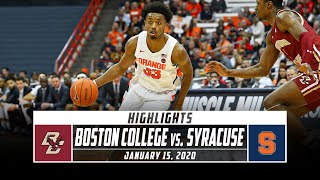 Boston College vs. Syracuse Basketball Highlights (2019-20) | Stadium