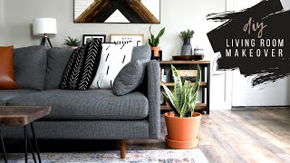 EASY Small Apartment Living Room Makeover (No Painting!)