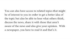 The difference between reading a newspaper and reading news on social media
