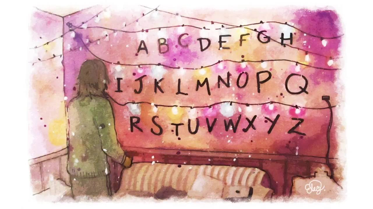 Stranger Things Watercolor Painting