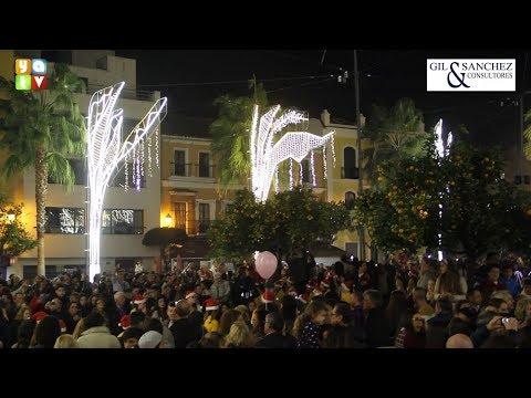 El alumbrado extraordinario de Navidad ya luce en las calles de Algeciras