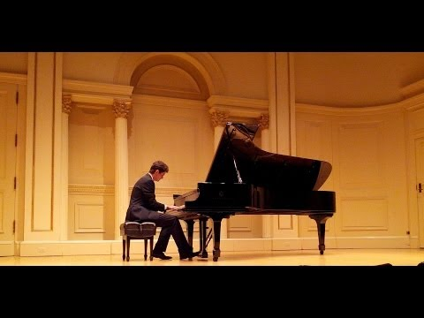 Robert Wallace, South African College of Music student, performing at Carnegie Hall