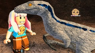 It's Blue ! Let's Play Roblox Game Jurassic World Raptor Dinosaur - Video