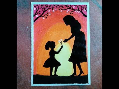 how-to-draw-a-mother's-day-scene-with-oil-pastels-for-beginners.