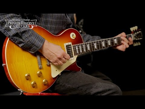 Gibson Custom LTD. 1959 Les Paul Std. Electric Guitar w/ Aged Flame Top and Braz. Rosewood F'board