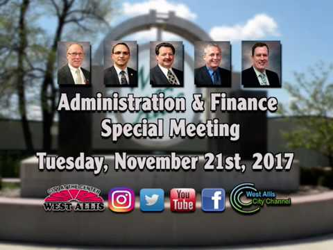 Administration & Finance Special Meeting 11-21-17