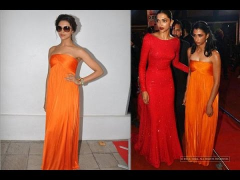 Sister Anisha wears Deepika Padukone's dress at Filmfare Awards