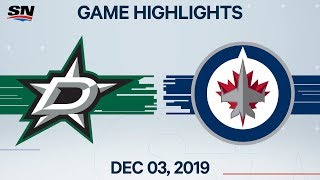 NHL Highlights   Stars vs Jets – Dec. 3, 2019
