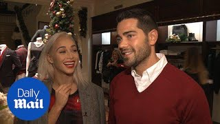 Jesse Metcalfe and Cara Santana loved up at Brooks Brothers - Daily Mail