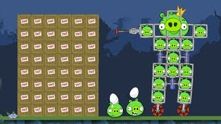 Bad Piggies - FUNNY 100 PIGGIES VS 100 TNT INVENTIONS!
