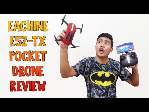 Eachine E52-TX WiFi FPV Selfie Pocket Drone With High Hold Mode Foldable Arm RC Quadcopter RTF