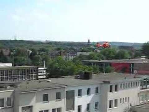 Helicopter landing in Bochum, Germany