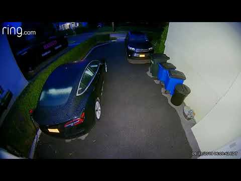 Police in Pelham released surveillance footage of a suspect who was caught trying to break into parked cars in a garage.