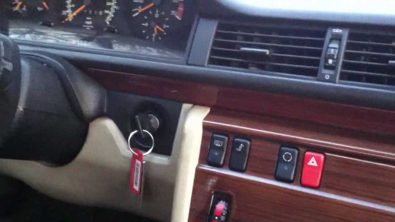 1992 Mercedes Benz 300E no start problem. - YouTube