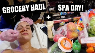 GROCERY HAUL+ MY NEW FAVE FACIAL! VLOGMAS DAY 13