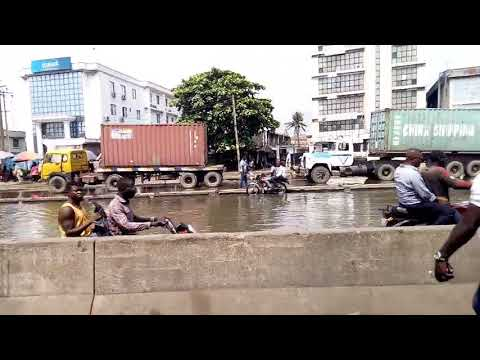 The state of the Wharf Apapa Road, Lagos