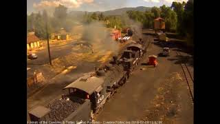 7/9/2018 Double headed train 216 departs Chama, NM with 9 cars