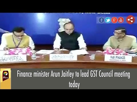 Finance minister Arun Jaitley to lead GST Council meeting today