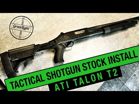 How To Install A Tactical Shotgun Stock - ATI Talon T2 & Mossberg 500
