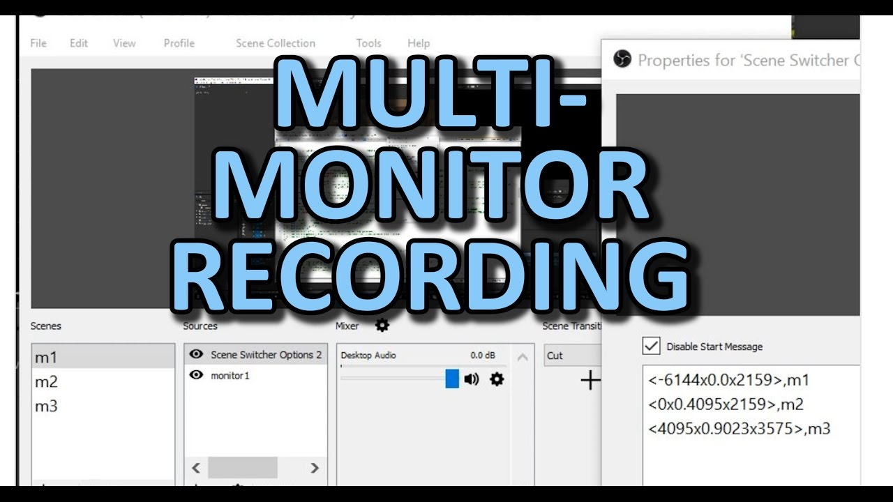 Screen recording on multiple monitors that follows the cursor! (OBS)