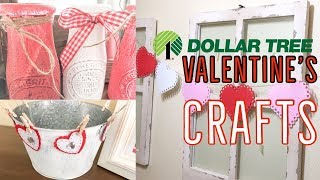 DOLLAR TREE DIY | FARMHOUSE VALENTINE DECOR | 3 EASY VALENTINE'S CRAFTS