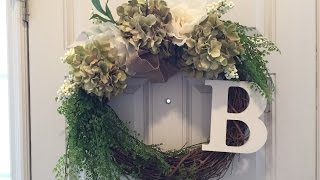 Flower Door Wreath DIY - less than 10 minutes!!