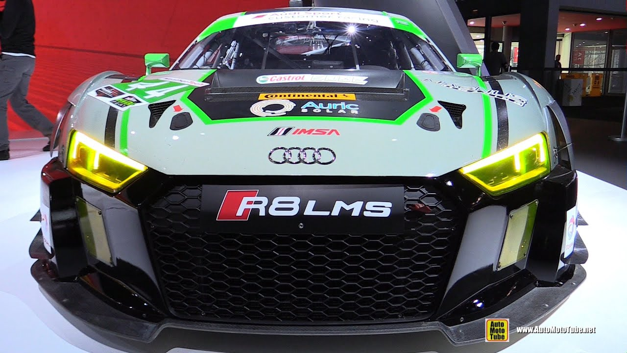 Audi Lms Race Car Exterior Walkaround New York