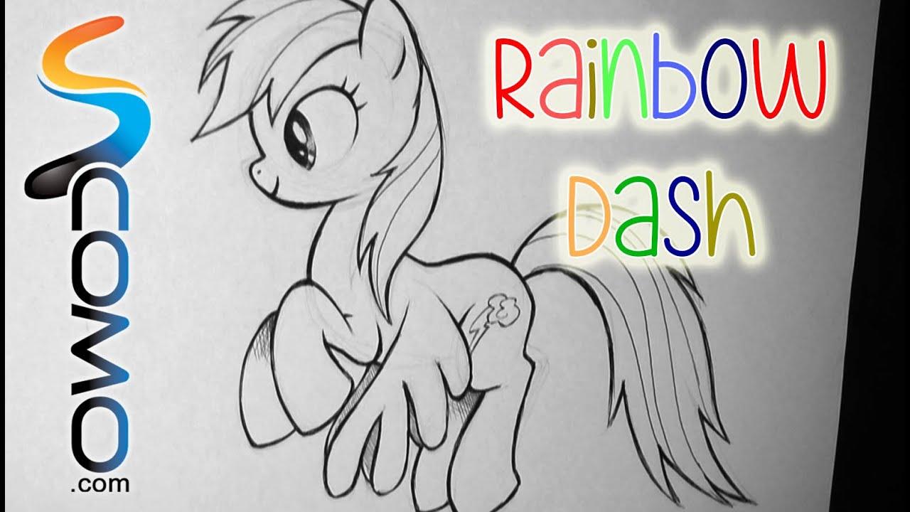 Dibujar a Rainbow Dash de My Little Pony - YouTube