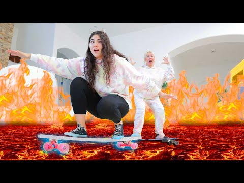 THE FLOOR IS LAVA BUT YOU CAN ONLY USE SKATEBOARDS!