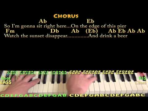 Drink A Beer  - Piano Cover Lesson with Chords/Lyrics