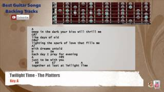 Twilight Time - The Platters Guitar Backing Track with scale, chords and lyrics