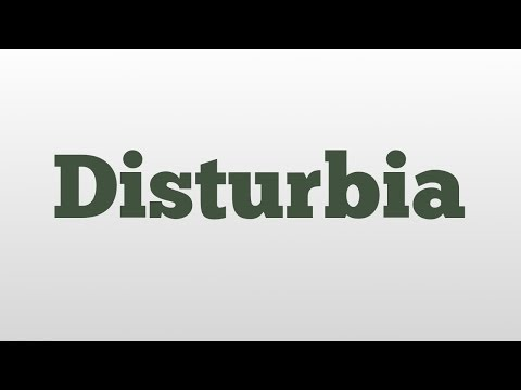 Disturbia meaning and pronunciation