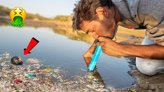 Drinking Dirty Water With Lifestraw - You Can Use This In Emergency