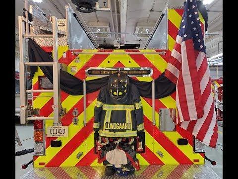 Fallen Firefighter Mitch Lundgaard Funeral Processional