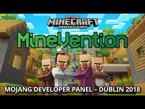 Mojang Panel at MineVention Dublin with Dinnerbone and Lady Agnes (April 2018)