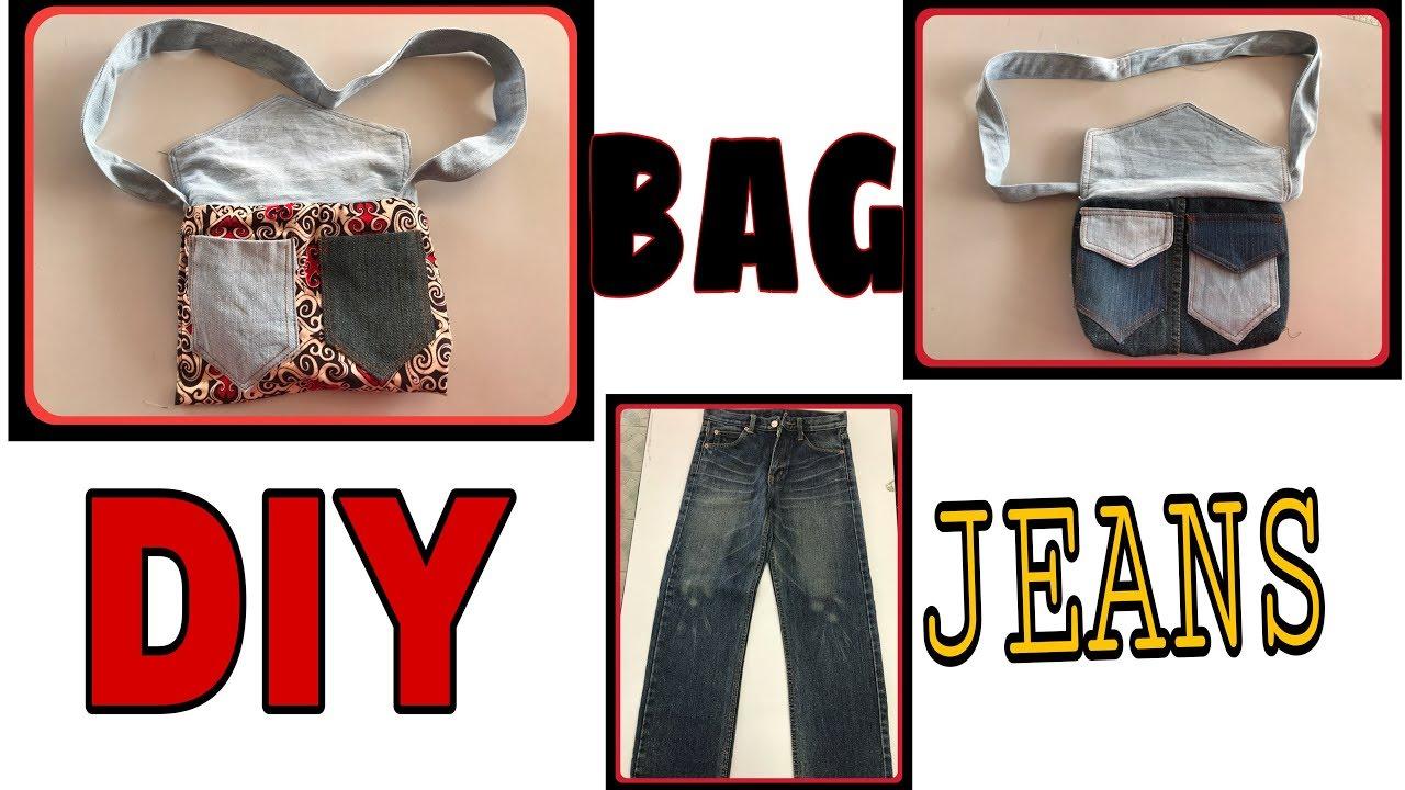 Buat Bag Dari Seluar Jeans Terpakai
