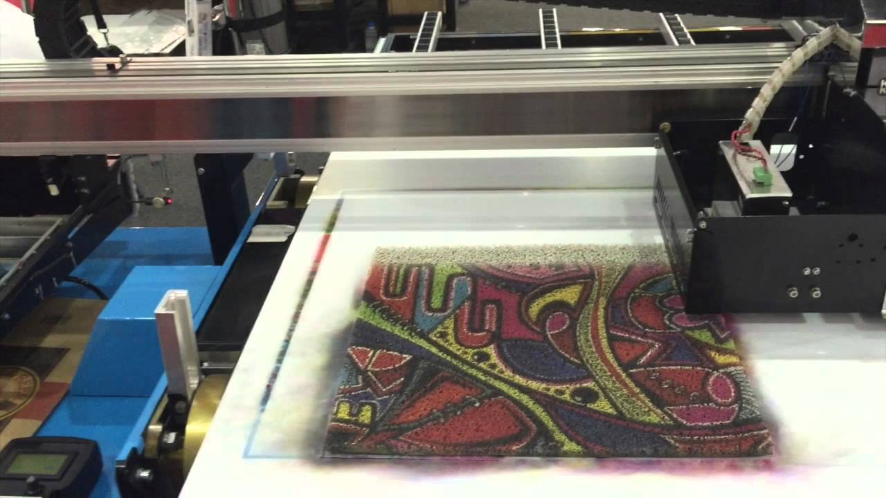 Printing on Carpet | Sun 3D Corporation - YouTube