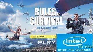 Rules of Survival | Intel HD 4000 | Core i3 | Low Spec PC | Best Alternative to PUBG